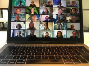 Cafégasten bij het Hilversum100 online café op 14 mei 2020